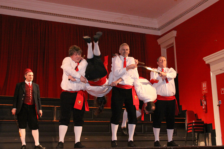 Photograph of Sallyport Sword Dancers