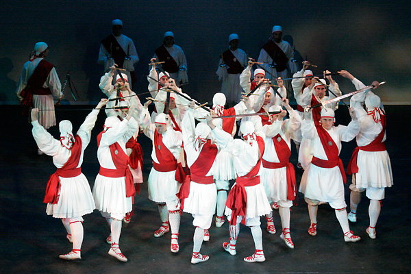 Photo of Basque sword dancers