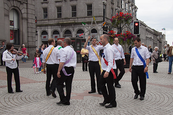 Photo of Papa Stour sword dancers